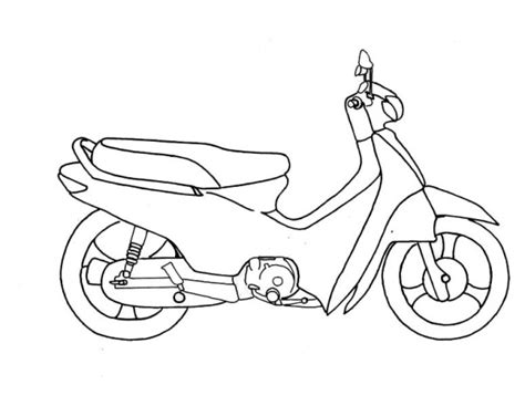 honda motorcycle coloring pages motorcycle honda scooter coloring pages kids coloring