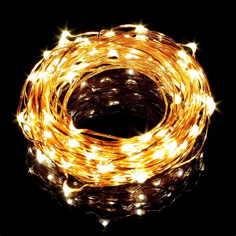33ft 10m Copper Wire Led String Lights 100 Leds Cool Warm White Lights 100 Viviluxe