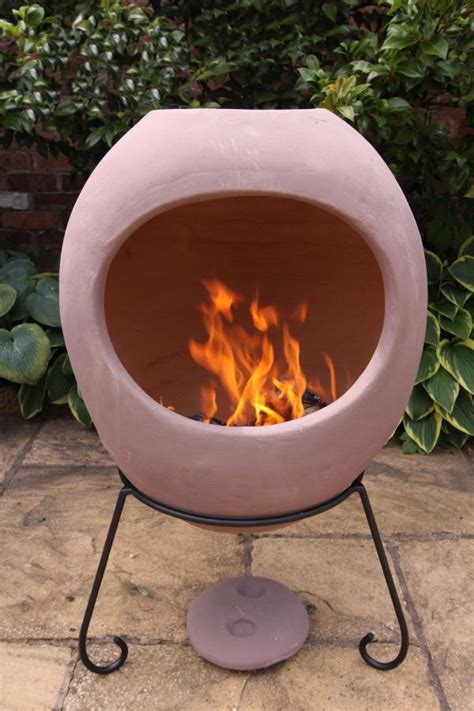 Large Contemporary Chiminea Modern Large Ellipse Mexican Chimenea Clay Chiminea