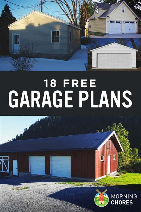 detached garage plans 28 images ideas minneapolis 18 free diy garage plans with detailed drawings and