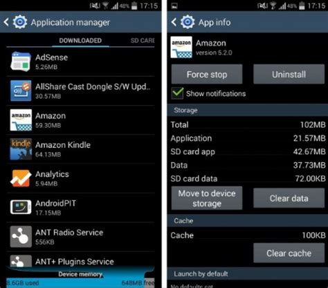 insufficient storage android fix how to fix android galaxy quot insufficient storage available quot