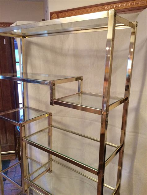 Etagere 9 Cases Castorama by Pair Of Brass Etageres Attributed To Milo Baughman At 1stdibs
