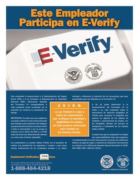 printable e verify poster e verify poster spanish