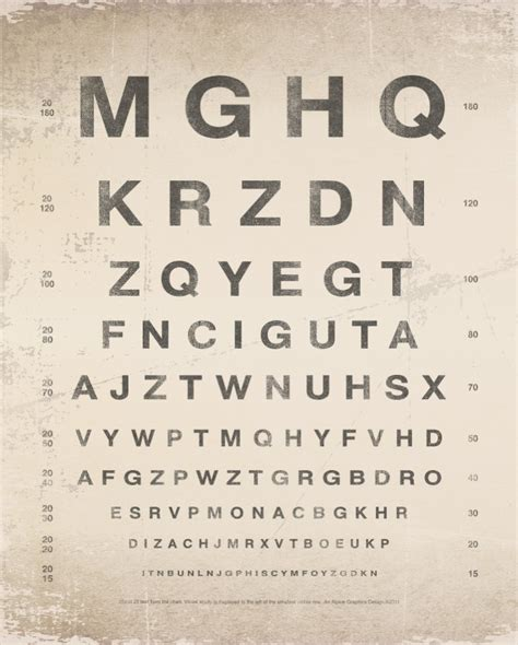 printable vintage eye chart pin by salvage kul char on letter signs and such stuff