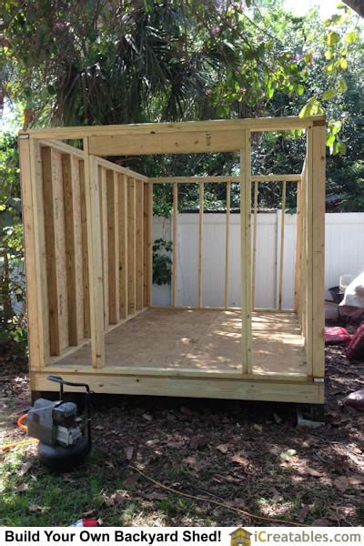 8x12 Shed Foundation by Pictures Of Backyard Shed Plans Backyard Shed Photos