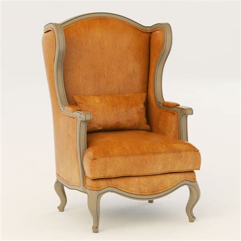 country armchair country corner chateau armchair 3d model max obj fbx