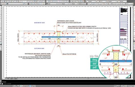 Floor Plan Scale basement retaining wall expansion joint detail