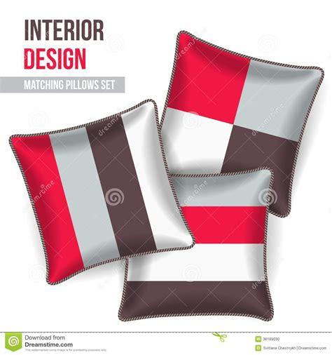 set of decorative pillow stock photo image 36189030