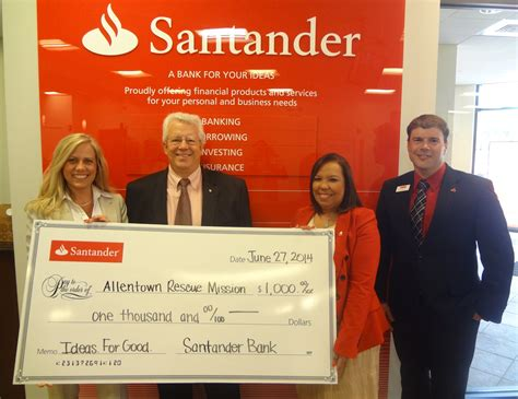 santander bank hamm santander bank rewards allentown rescue mission for doing