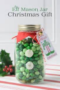 elf mason jar christmas gifts on the polka dot chair