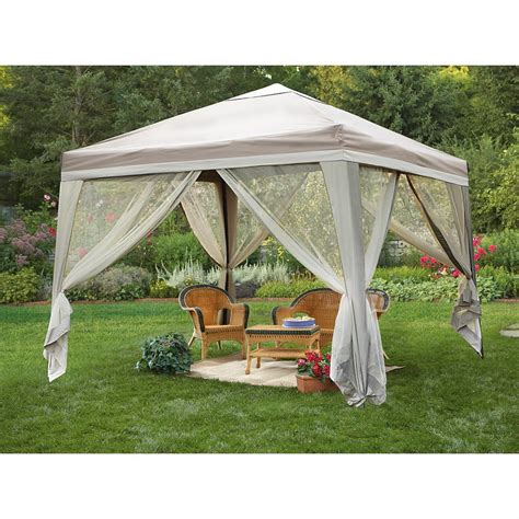gazebo 10x10 deluxe 10x10 backyard gazebo 216752 gazebos at