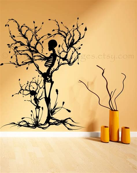 Gothic Wall Stickers Halloween Tree Of Life Vinyl Wall Decal Home Decor By