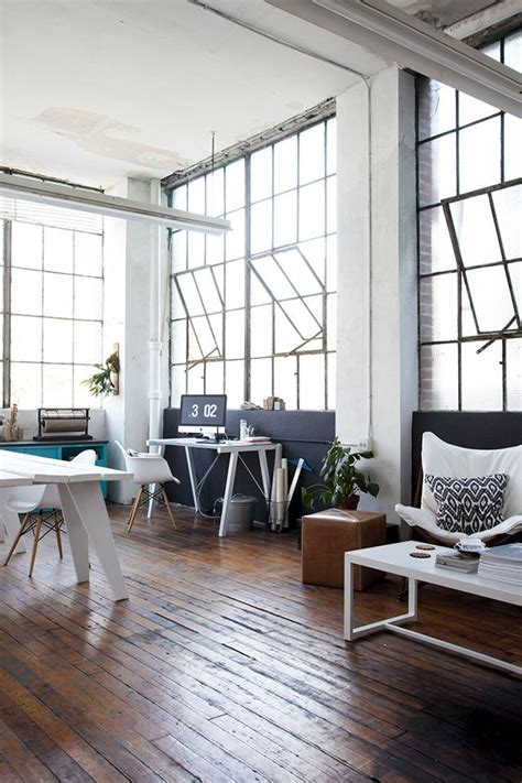 home design studio windows plank floors and big open windows office space