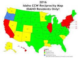 ccw reciprocity map idaho enhanced carry and concealed permit classes