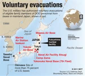 japan map us navy bases begins voluntary evacuation of families in japan