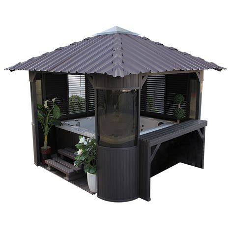 gazebo b q canadian spa frazer freestanding gazebo with assembly