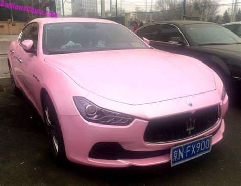 pink maserati interior pink cars in china archives carnewschina com