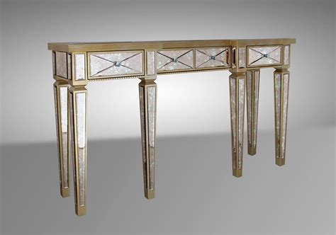 Mirrored Console Tables by Harmon Transitional Mirrored Console Table