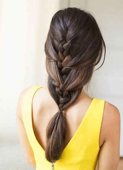 loose back braid loose french braid ponytail easy back to school