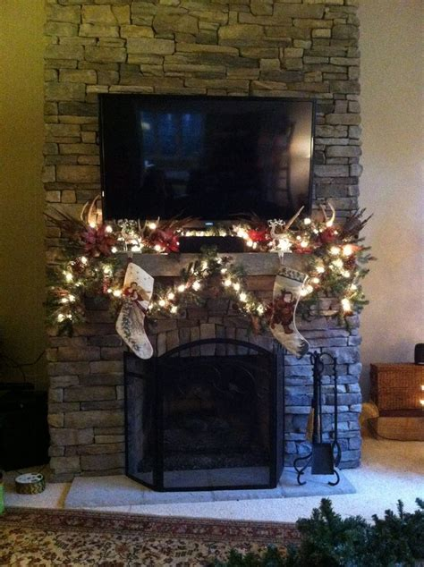 garland for fireplace 9 best images about fireplace mantel decor on
