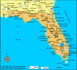 map of florida with cities listed florida cities map