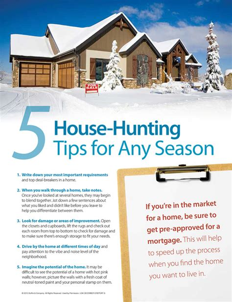 tips for house buying 5 home buying tips for any season