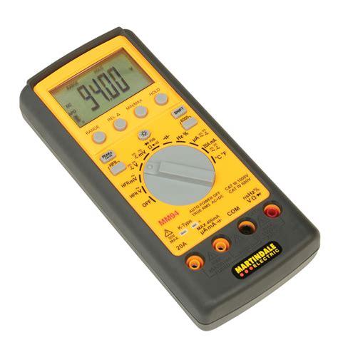Mm 2 Digital Multimeter With True Rms mm94 true rms digital multimeter