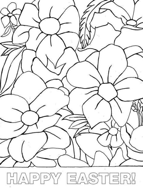 printable easter flowers printable free colouring sheets easter flowers for