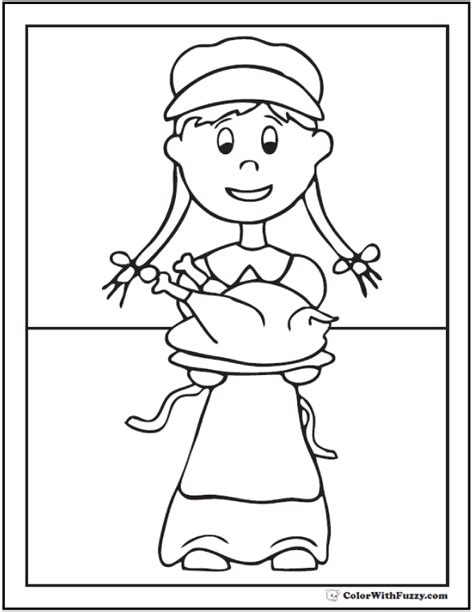 girl turkey coloring page 68 thanksgiving coloring page customizable pdfs