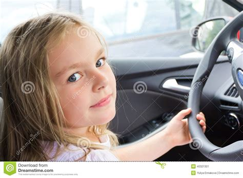 car commercial girl short blond hair cute girl driving car stock photo image 40321301