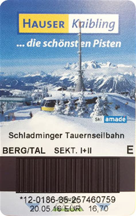 Skiline Skipass Eingeben F 252 R Hauser Kaibling