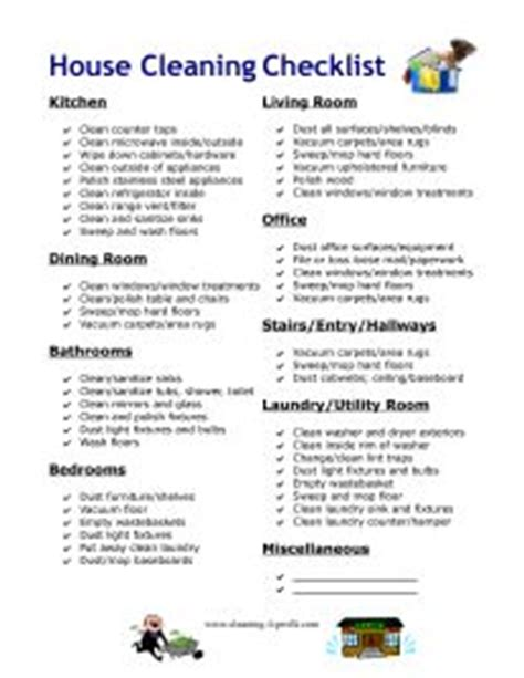 professional cleaning checklist templates 9 best cleaning checklist images on