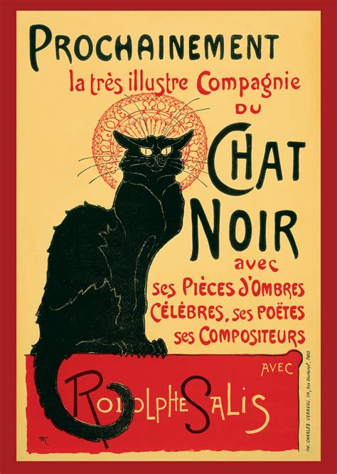 le retro le chat noir vintage ad poster by sammyag on