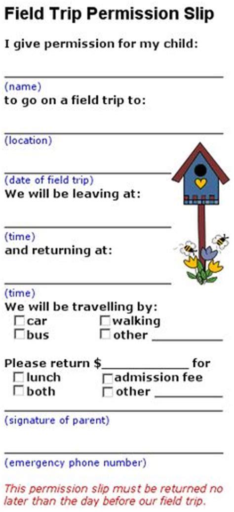 field trip permission slip template pin by smallwood on school
