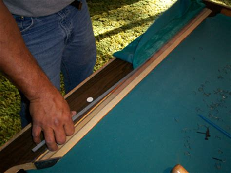 How To Change Pool Table Felt Replace Pool Table Cushions And Refelt