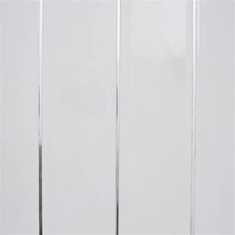 White Pvc Cladding For Bathrooms by Gloss White White With Chrome Bathroom Cladding Panels