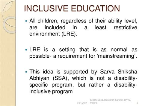 thesis about inclusive education in the philippines research papers on least restrictive environment