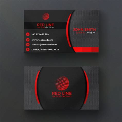 black business cards templates psd corporate and black business card psd file free