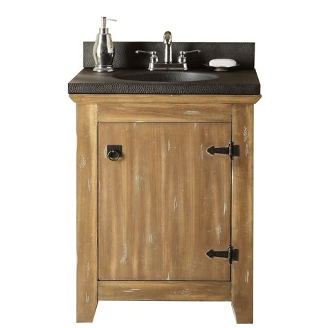 Lowes Bathroom Vanity And Sink Shop Style Selections Beckfield 24 In X 20 In Washed Driftwood Integral Single Sink Bathroom