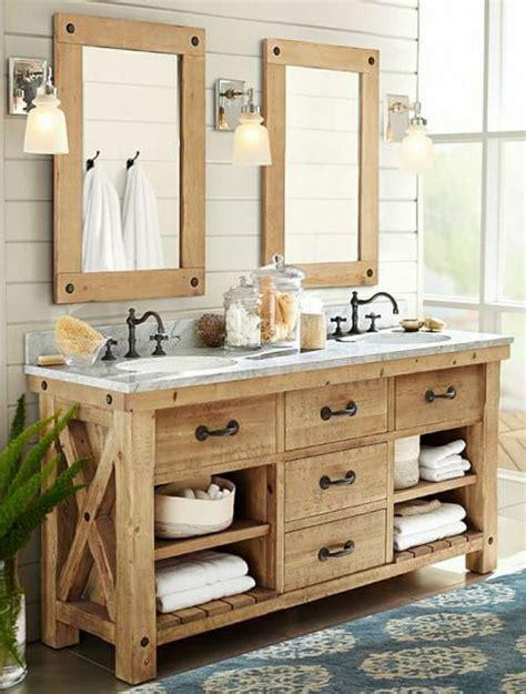 badezimmer vanity rustikal rustikales design mit marmor tischplatte wohnen