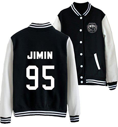 Jaket Swerater Baseball Qing Luoc Abu kpop bts bangtan boy varsity baseball jacket overcoat hoodie sweater m jimin 95 buy in