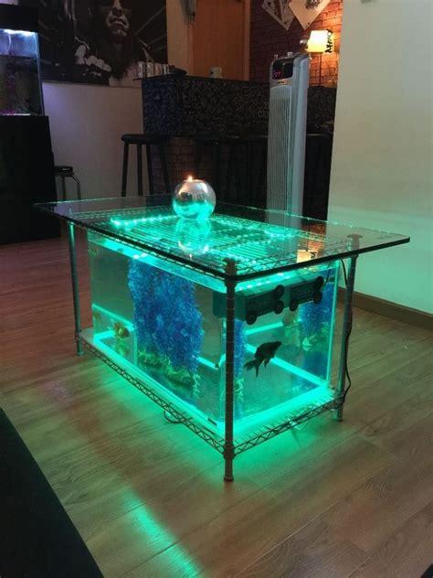 model meja aquarium minimalis besi kayu harga