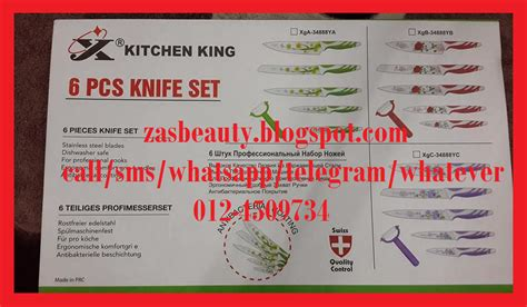 Pisau Set Kitchen King 6 Pcs kithen king 6 pcs knife set harga murah giler borong