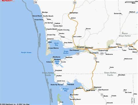 washington coast map pacific state park washington coast