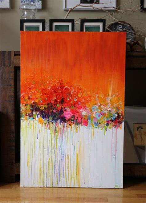 how to paint acrylic on canvas in abstract original abstract painting acrylic flower painting