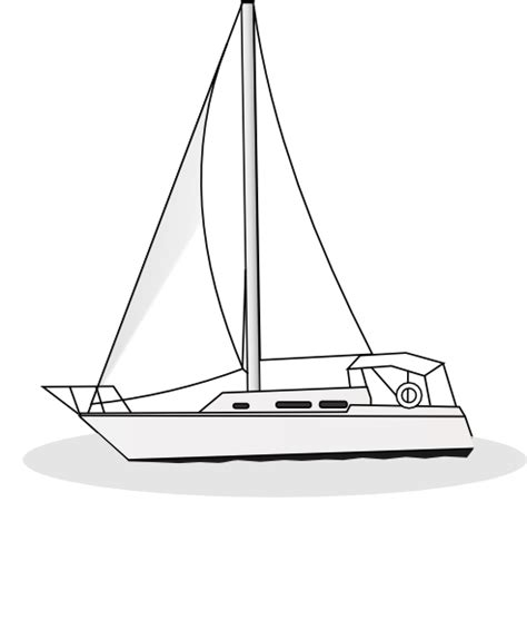 Sailboat Outline by Yacht Outline Clip At Clker Vector Clip Royalty Free Domain