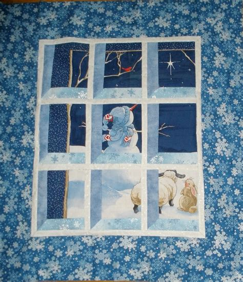 Window Pane Quilt by Quilt Inspiration Free Pattern Day Snowmen And Snowflakes