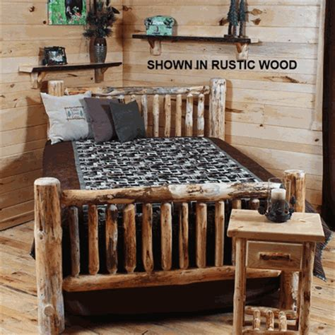log bed kits twist of nature unasembled small spindle pine log bed kit