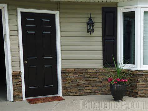 Exterior Wainscot by Wainscoting Creative Faux Panels