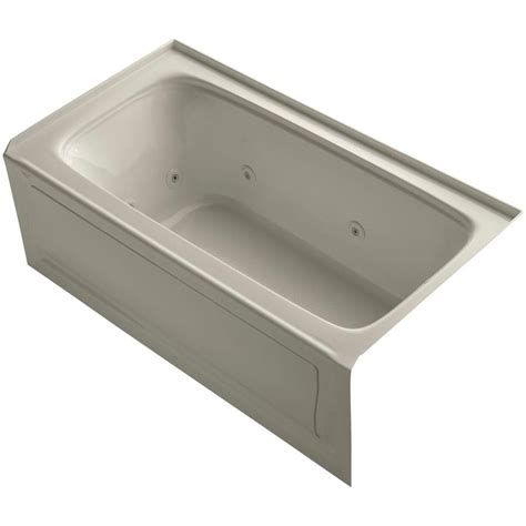 kohler bathtubs home depot kohler bancroft 5 ft acrylic right drain rectangular